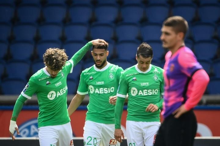 VIDEO : Le meilleur de Denis Bouanga à Saint-Etienne. AFP