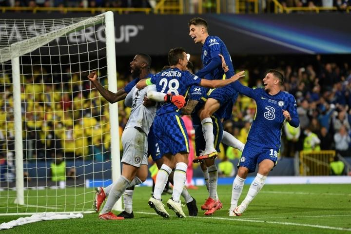Chelsea remporte la Supercoupe d'Europe 2021. AFP
