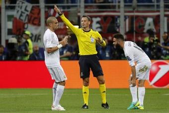 Sergio Ramos' goal versus Atletico Madrid was offside. EFE