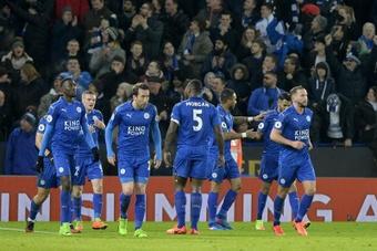 El Leicester venció 3-4 al Spartak de Moscú. EFE