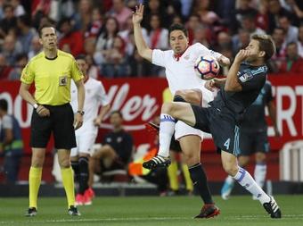 Nasri lamentó no haber triunfado en el Sevilla. EFE