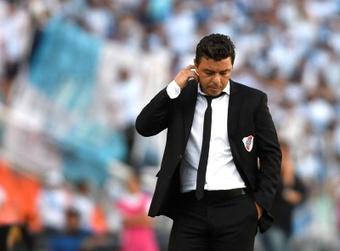 Gallardo lamentó que el equipo no consiguiera romper la racha de empates. EFE