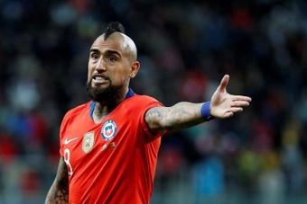 Arturo Vidal deixou claro que viajará ao Chile. EFE/Sebastião Moreira