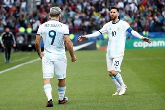 Il Kun sull'addio di Messi al Barça. EFE