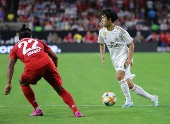Su primera vez en el Bernabéu podría tener recompensa para Kubo. EFE