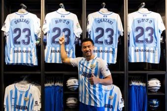 Okazaki nunca llegó a debutar con el Málaga. EFE