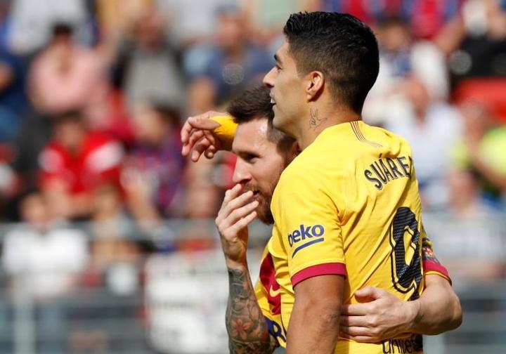 Luis Suarez évoque l'avenir de Lionel Messi. afp