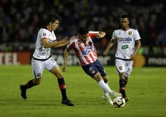Junior se repone a los sustos de Jaguares. EFE/Ricardo Maldonado Rozo/Archivo
