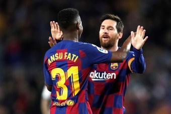 Ansu Fati no jugará el 'play off' de ascenso. EFE/Archivo