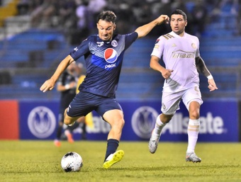 Motagua no pasó del empate ante Atlanta United. AFP