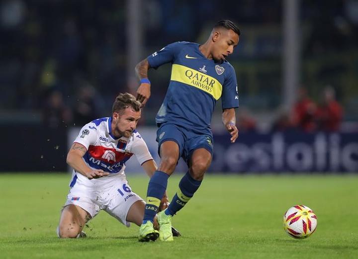 Sebastián Villa quiere dar el salto al fútbol europeo. EFE