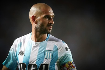 Lisandro López rompió su acuerdo con el Atlanta United para regresar a Racing Club. EFE