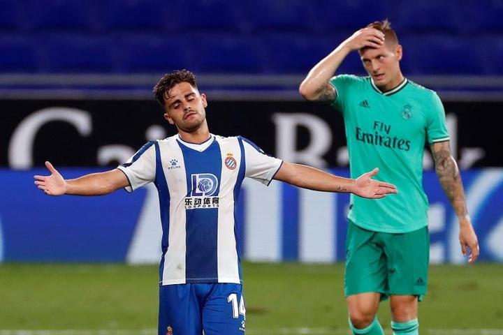 Melendo habló ante los medios oficiales del Espanyol. EFE