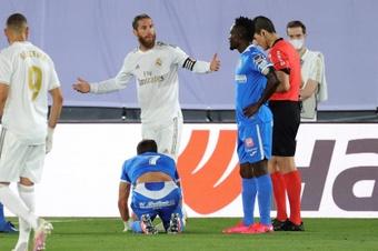 En el Madrid empieza a haber un cierto malestar por las actuaciones arbitrales. EFE/Archivo