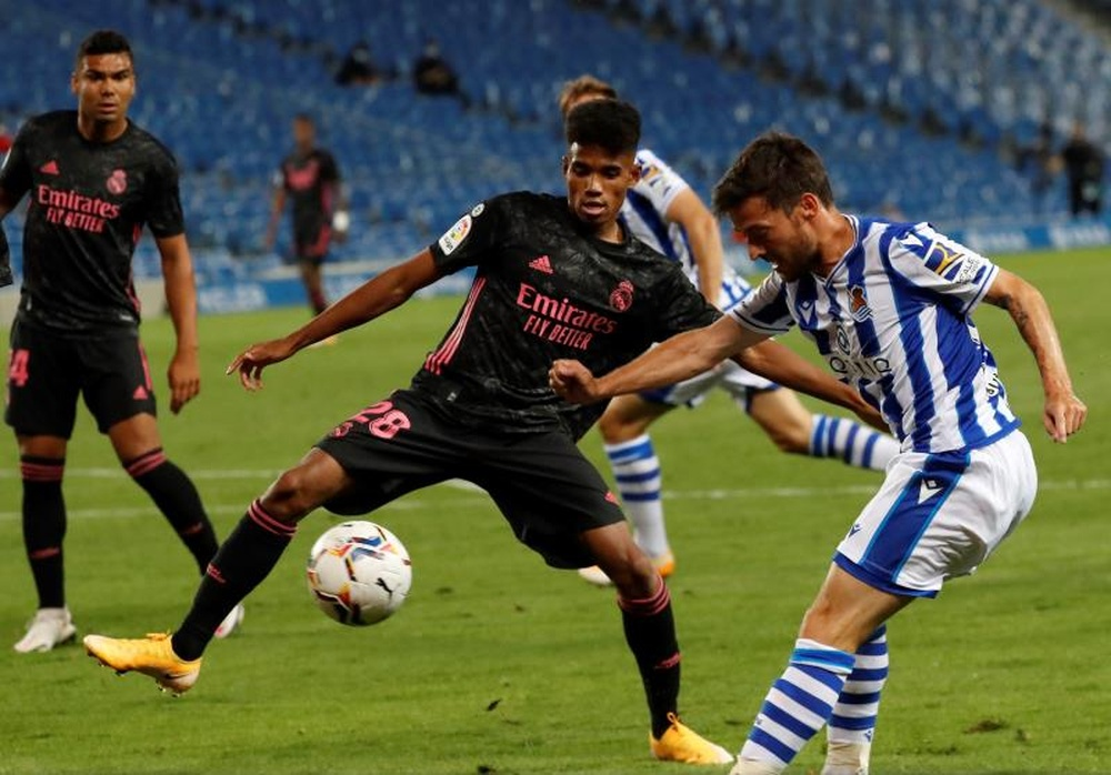 El Madrid quiere que Marvin se reconvierta en carrilero. EFE/Archivo
