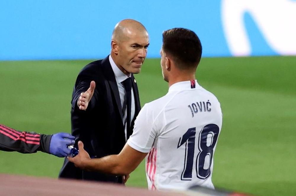 El delantero serbio del Real Madrid, Luka Jovic. EFE