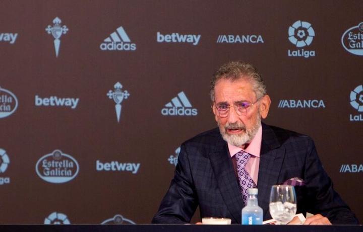 Carlos Mouriño cargó contra Denis Suárez. EFE
