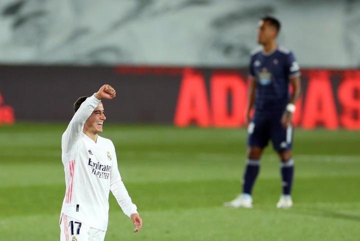 El gallego Lucas Vázquez renovó con el Real Madrid hasta 2024. EFE