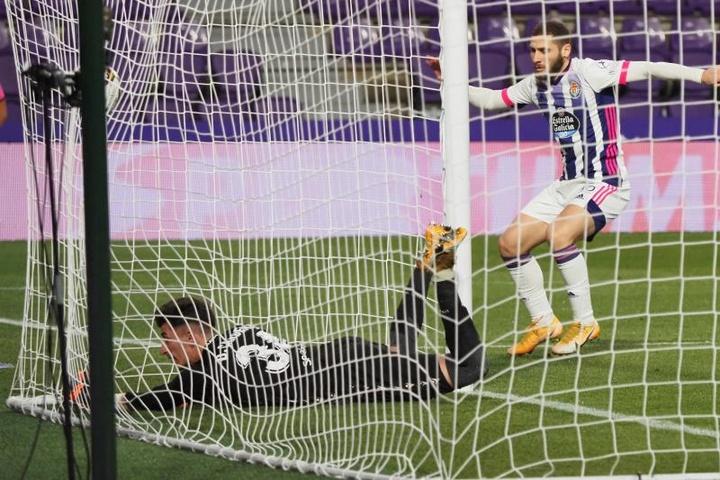 Cada vez que Weissman anota, el Valladolid puntúa. EFE