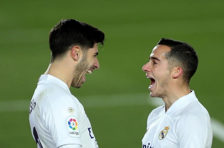 Lucas Vázquez ve al Madrid luchando con los grandes en la 2021-22. EFE