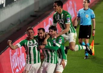 Betis, um time exemplar na luta contra o coronavírus. EFE/Julio Muñoz
