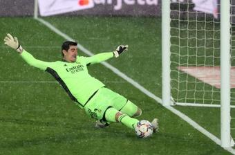 Real sofre, mas Courtois e Rodrygo brilham para garantir a vitória. AFP