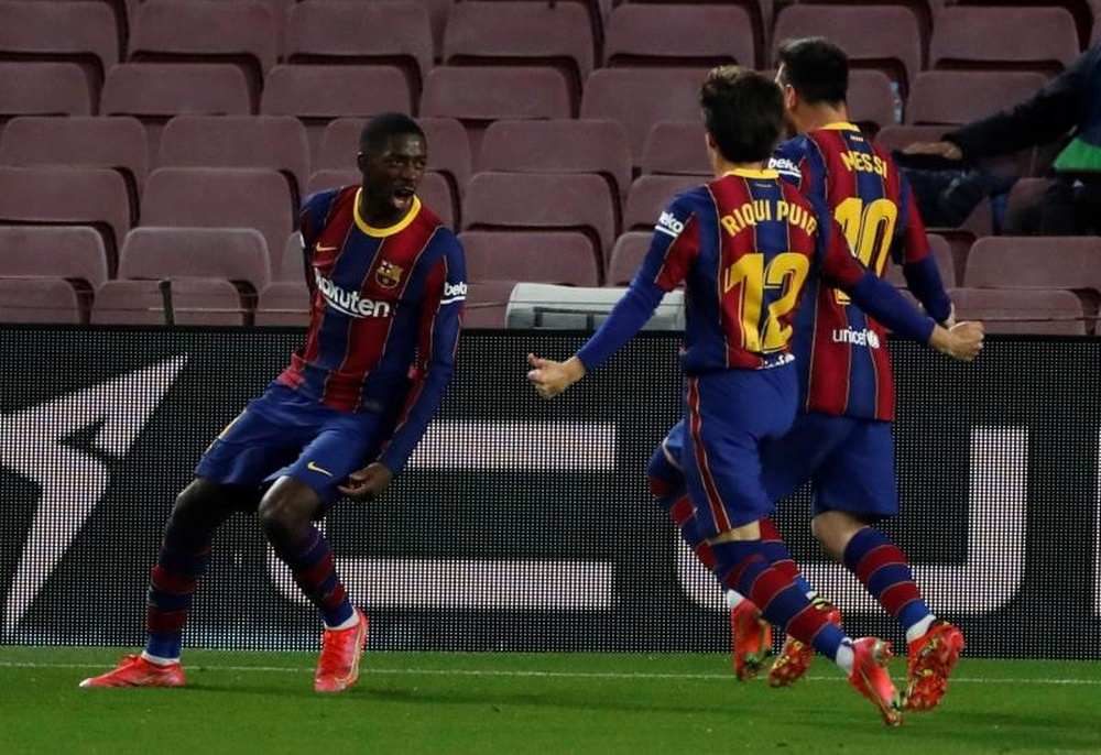 El Barcelona quiere centrarse en recuperar a Dembelé. EFE