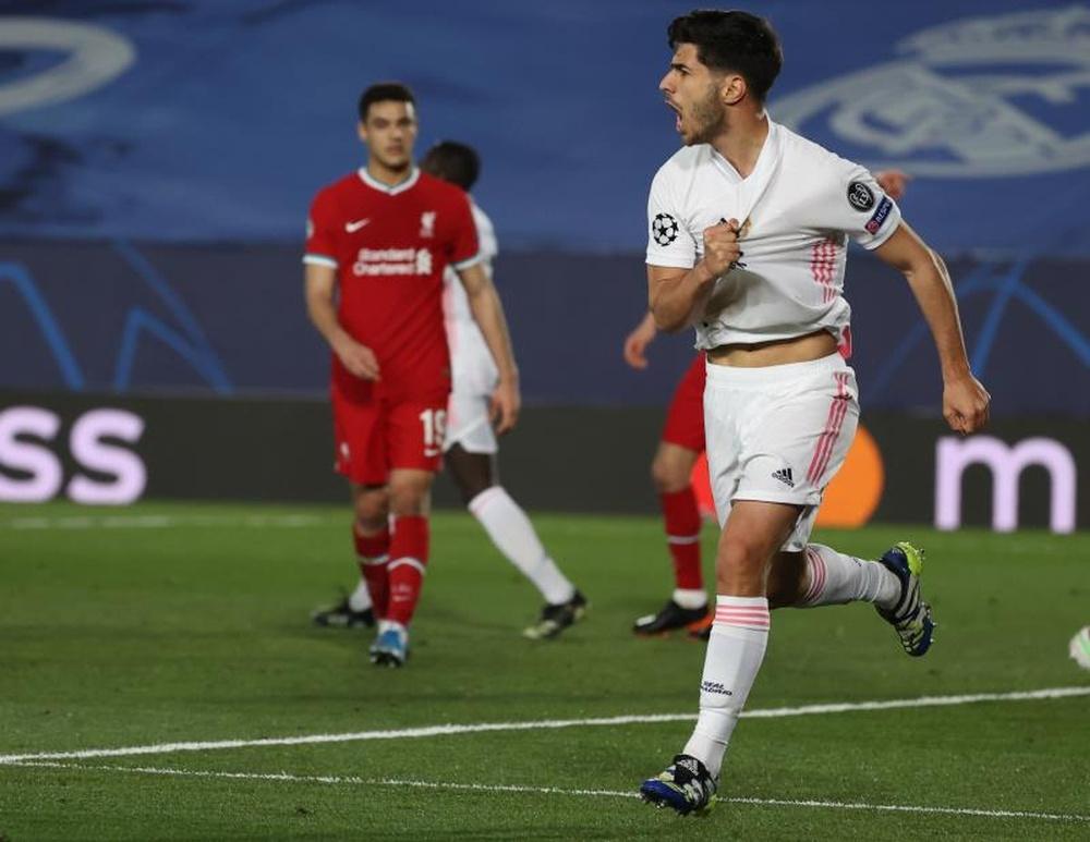 Marco Asensio acumula 40 goles en su etapa como madridista. EFE