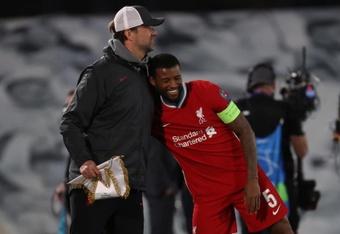 Wijnaldum confirmó su adiós del Liverpool. EFE/Juanjo Martín