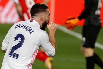 Carvajal is in the final stretch of his injury. EFE