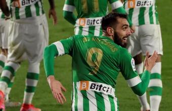 Borja Iglesias quiere seguir muchos años más en el Betis. EFE