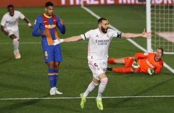 Benzema is positive ahead of 'El Clasico'. EFE