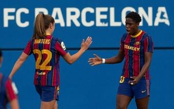 Oshoala gana protagonismo en el Barça. EFE