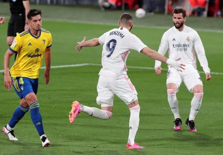 Real Madrid were far too good for Cadiz. EFE