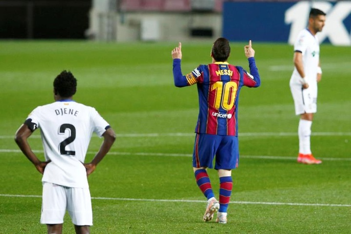 Lionel Messi was the star of the show for Barca v Getafe. EFE