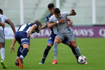 Alexis Zapata marcó el 1-0 ante Orense. Archivo/EFE