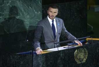 David Beckham será la imagen del Mundial de Catar 2022. EFE