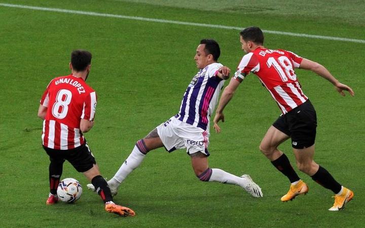 El Valladolid ha sumado un meritorio punto en casa del Athletic Club. EFE