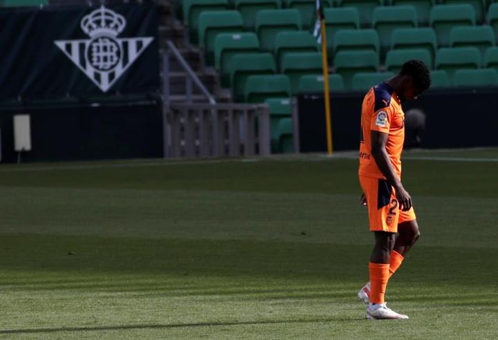 Correia, impatient de jouer contre le Barça. EFE/Julio Muñoz./Archive