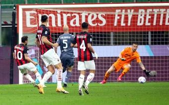 Il Milan batte il Benevento. AFP