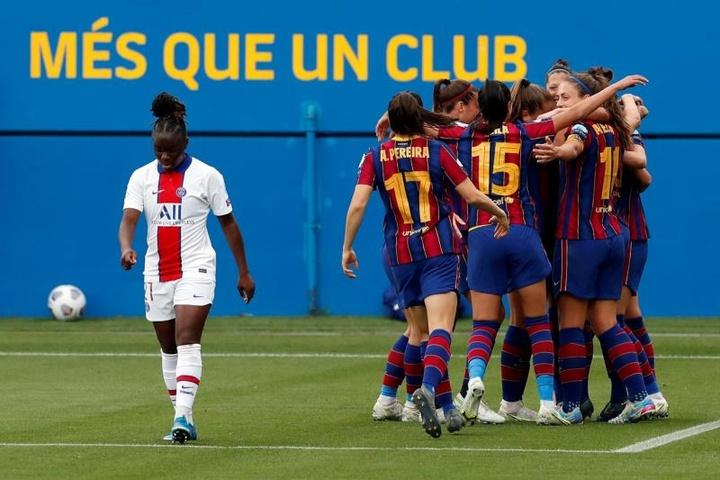Chelsea e Barcelona estão na final da Champions League Feminina. AFP