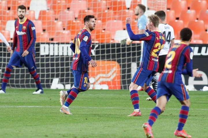 Messi e Griezmann, a dupla que faz o Barça sonhar com o título. AFP