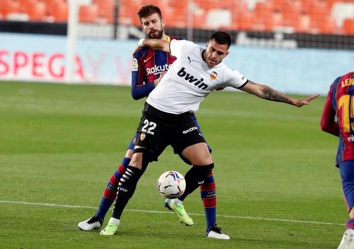 Maxi Gómez quiere seguir en el Valencia. EFE