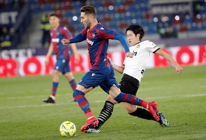 Kang-In Lee podría jugar en el Granada esta temporada. EFE