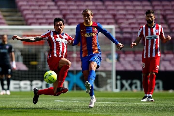 Savic atteint la barre des 200 matches avec l'Atlético. EFE
