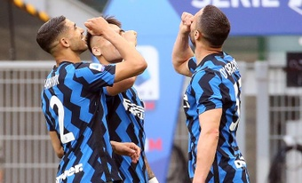 El inter derrotó a la Sampdoria. EFE