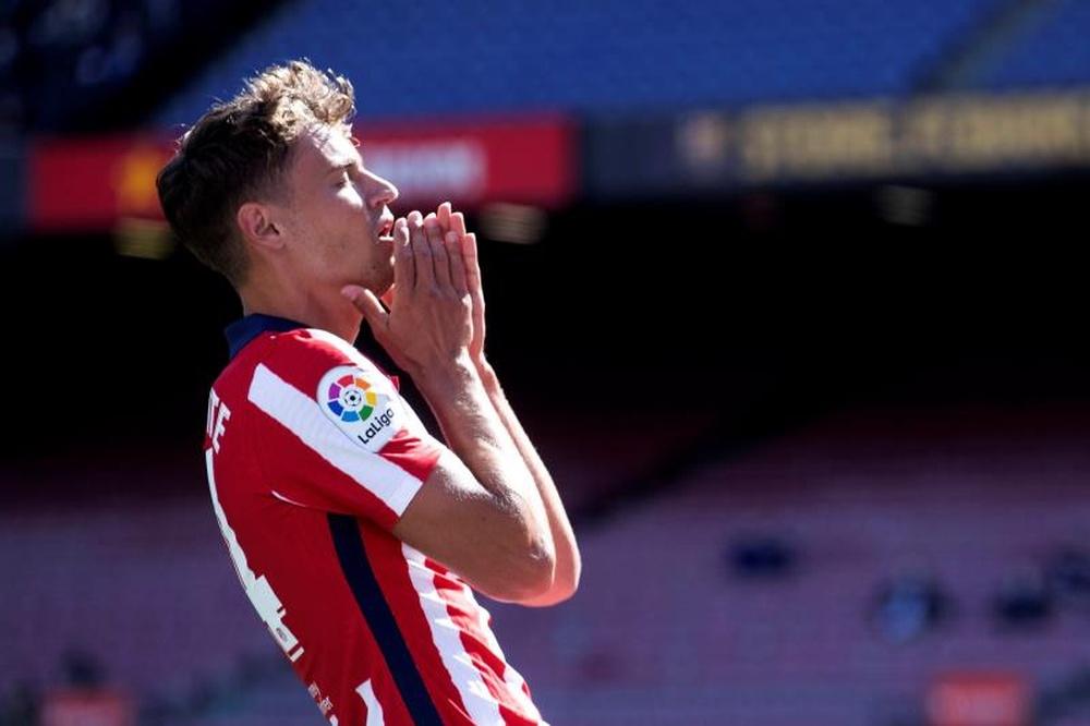 Llorente fait son retour à l'entraînement de l'Atlético. EFE