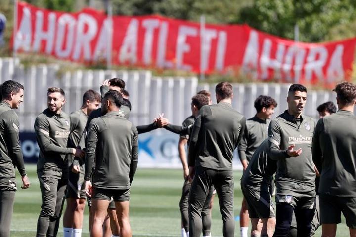 El Atlético empezará la Liga con pocas bajas. EFE