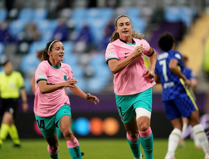Barcelona é campeão da Champions League Feminina 2020-21. AFP
