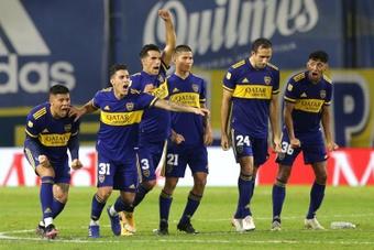 La afición de Boca confía en el equipo de cara al 'Superclásico'. EFE